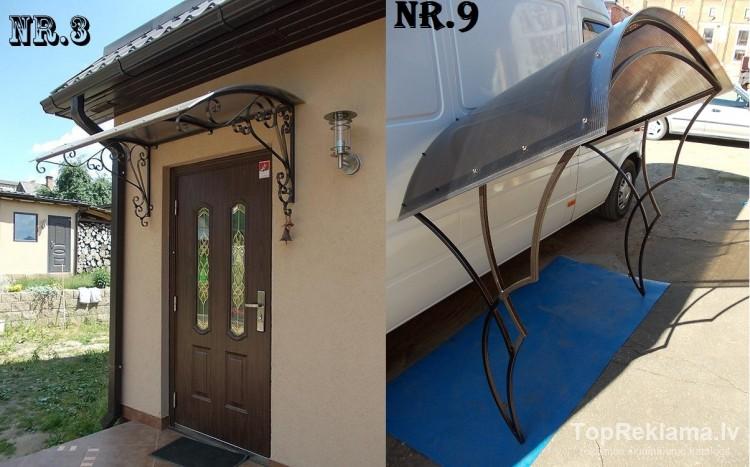 Как сделать козырек на входному двери 118