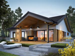 Koka karkasa mājas būvniecība