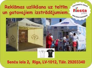 Reklama uz jūsu teltīm